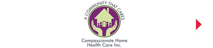 A Community that Cares. Compassionate Home Health Care Inc. Logo